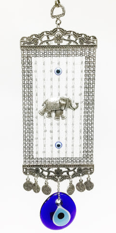 Elephant evil eye decor