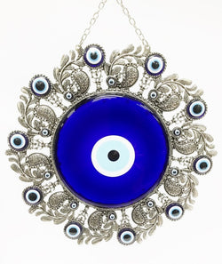 Sunburst evil eye wall decor