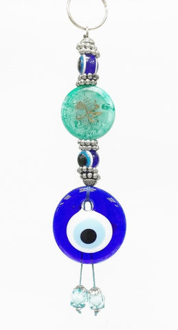 Evil eye Arabic detail key chain