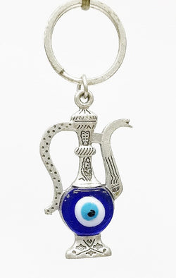 Tea pot Evil eye key chain