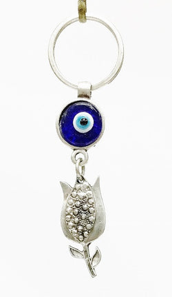 Tulip Evil eye key chain