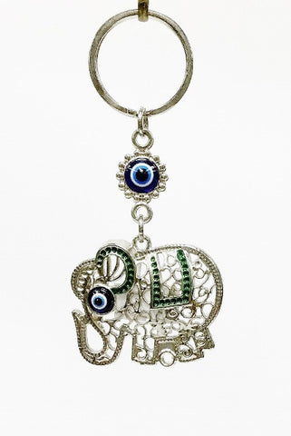 Elephant Evil eye key chain