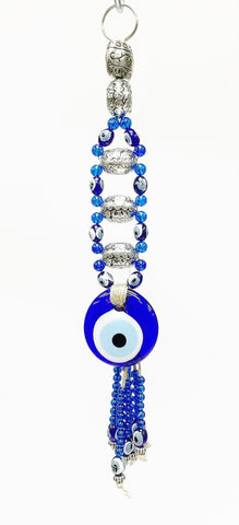 Evil eye tassel key chain