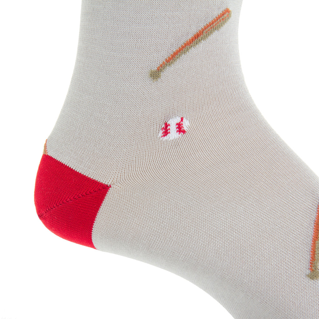 Mid-Calf-Ash-Baseball-Cotton-Sock-USA