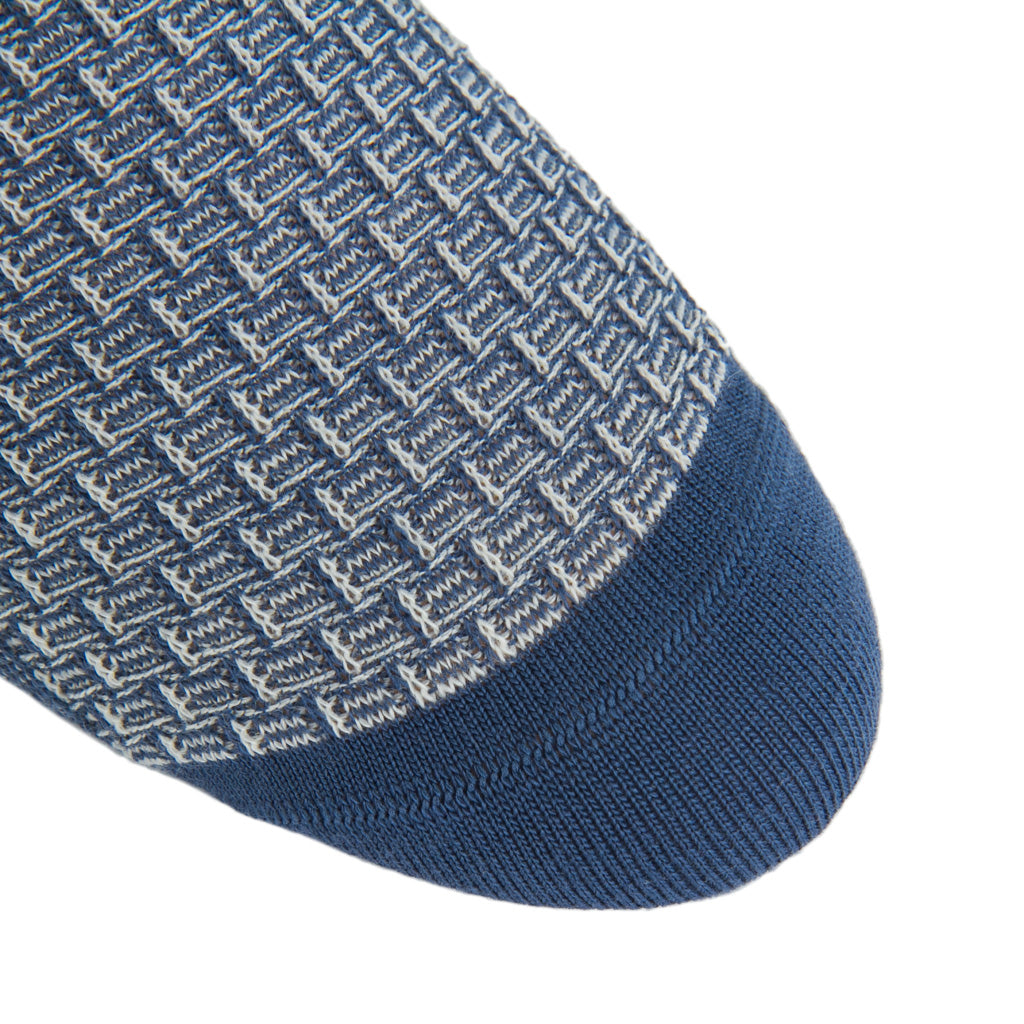Blue-Cream-Basket-Weave-Sock