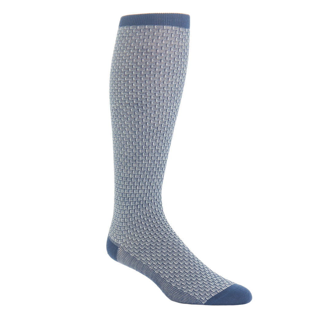 Over-The-Calf-Basket-Weave-Wool-Sock