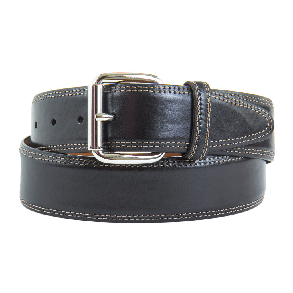 Black-Leather-Belt-Nickel-Buckle