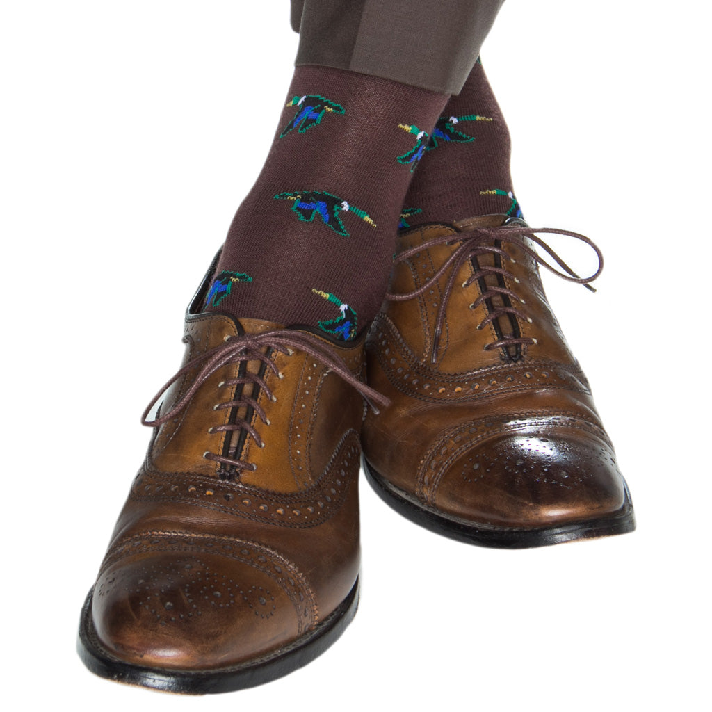 Flying-Mallord-Brown-Sock-Wool