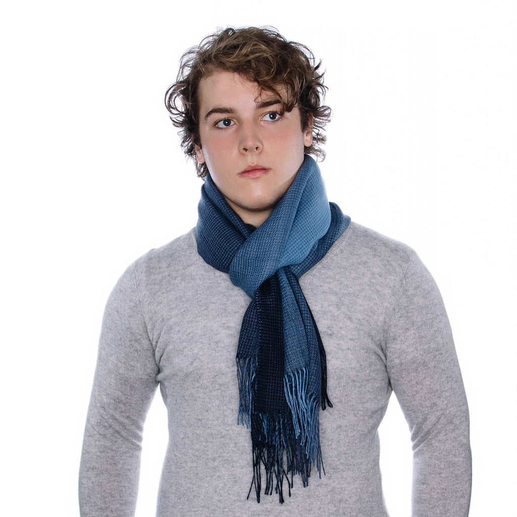 Scarf-Wool-Blue-Houndstooth