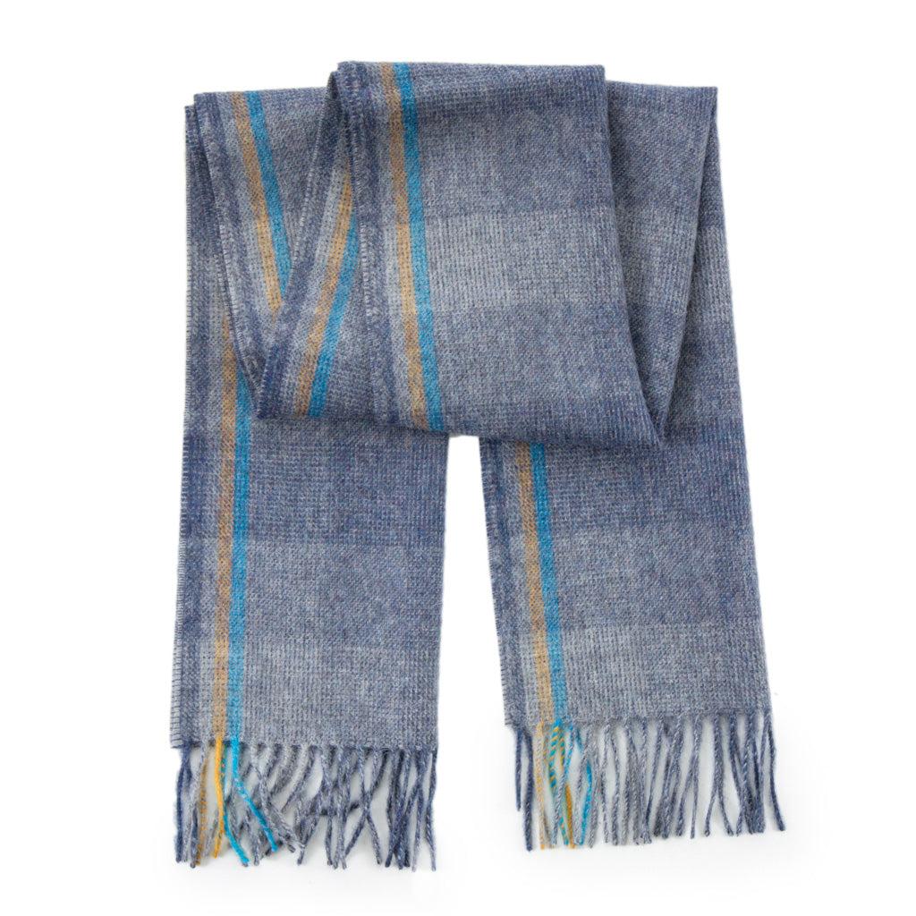 Ombre-Blue-Muffler-Scarf-American-Made