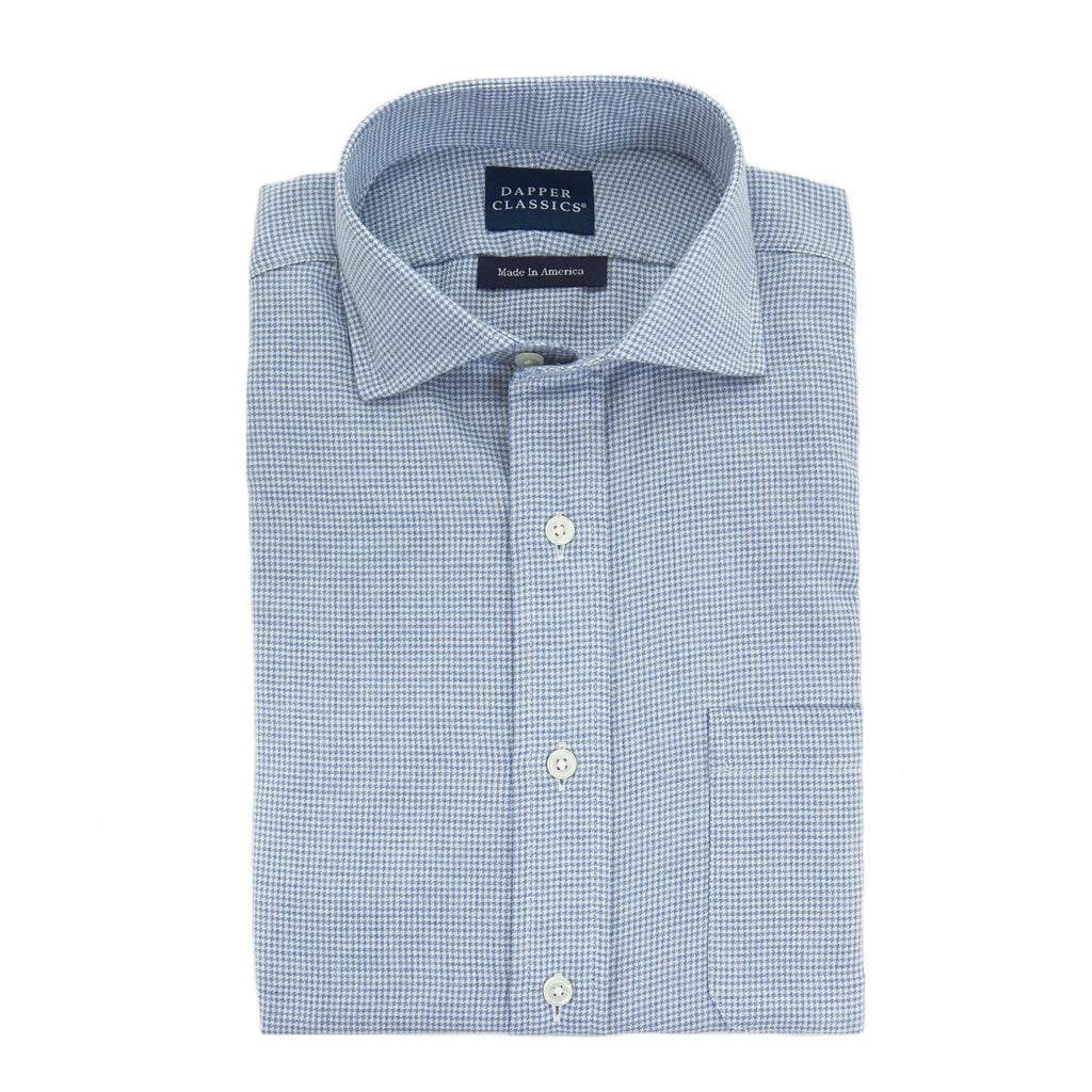Made-In-America-Blue-White-Houndstooth-Shirt