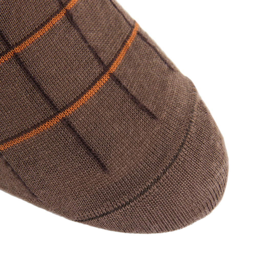 Brown-Coffee-Burnt-Orange-Wool-Sock