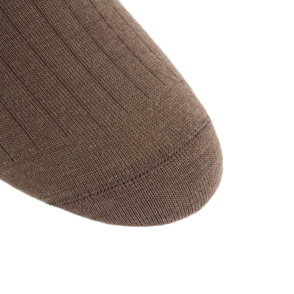 Brown-Wool-Sock-Made in USA
