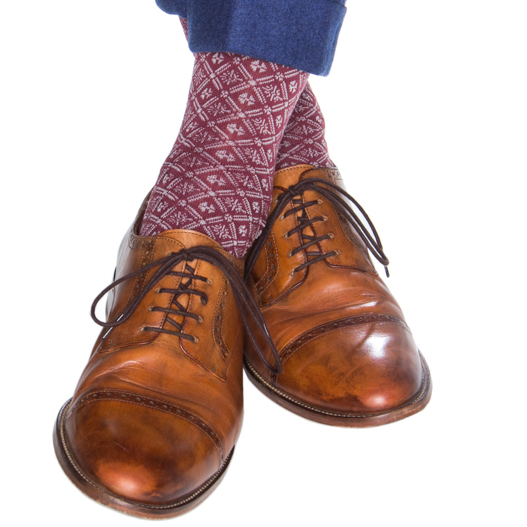 American-Made-Sock-Burgundy-Ash-Gray
