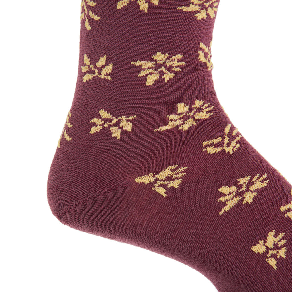 Mid-Calf-Patterned-Wool-Sock