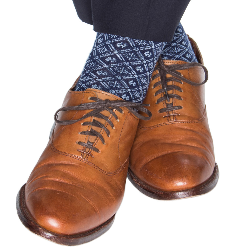 Blue-Wool-American-Made-Sock