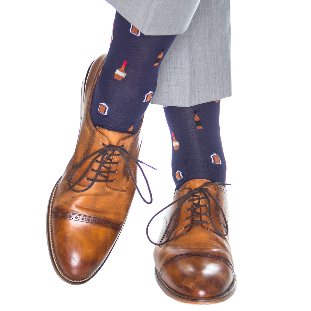 Navy-Bourbon-Bottle-Socks