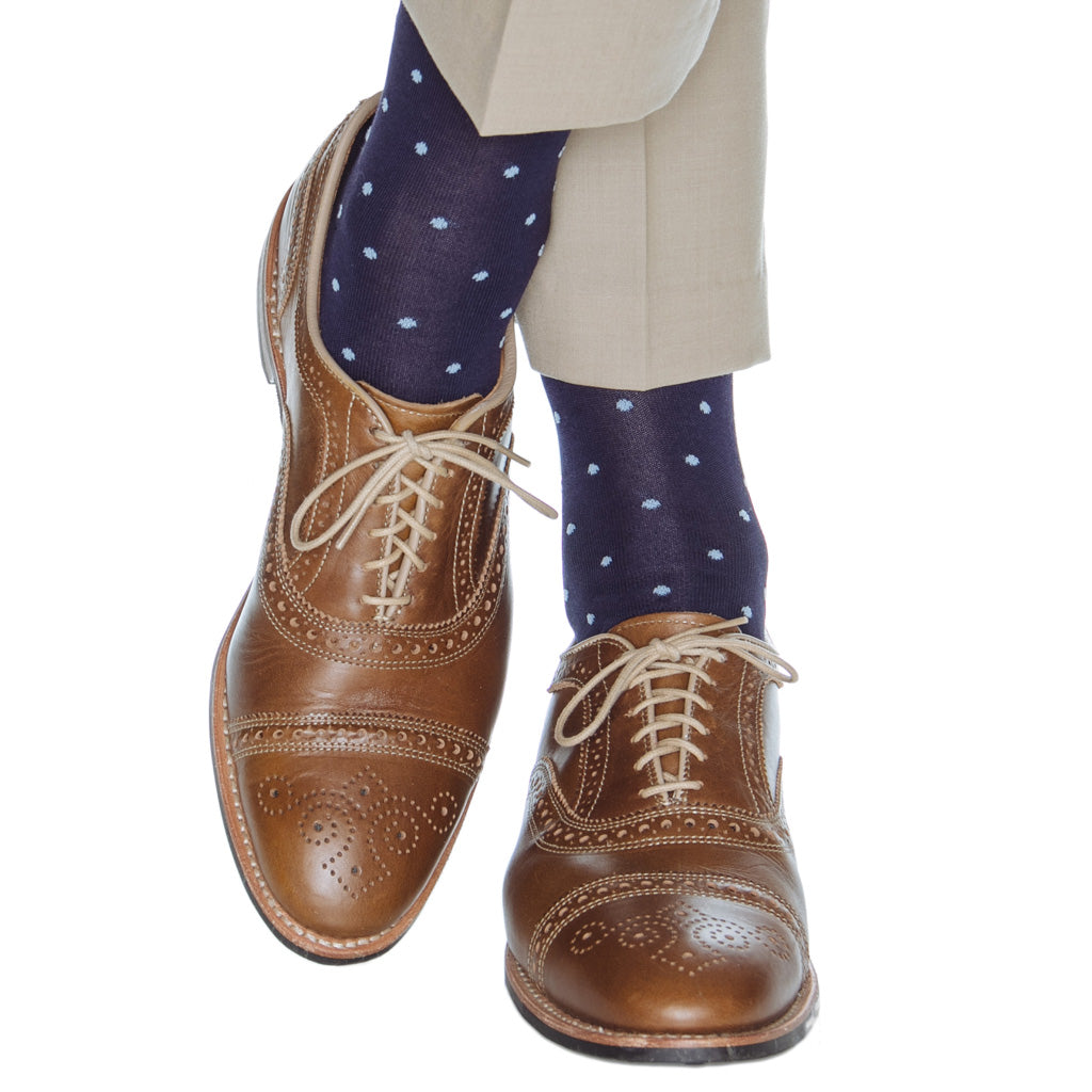 Navy-Sky-Dot-Cotton-Sock