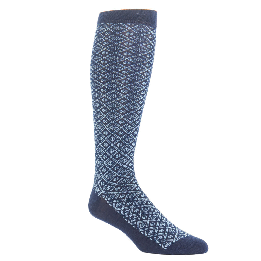Over-The-Calf-Wool-Blue-Sock-USA