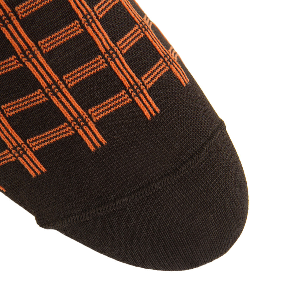 Orange-Brown-Patterned-Sock