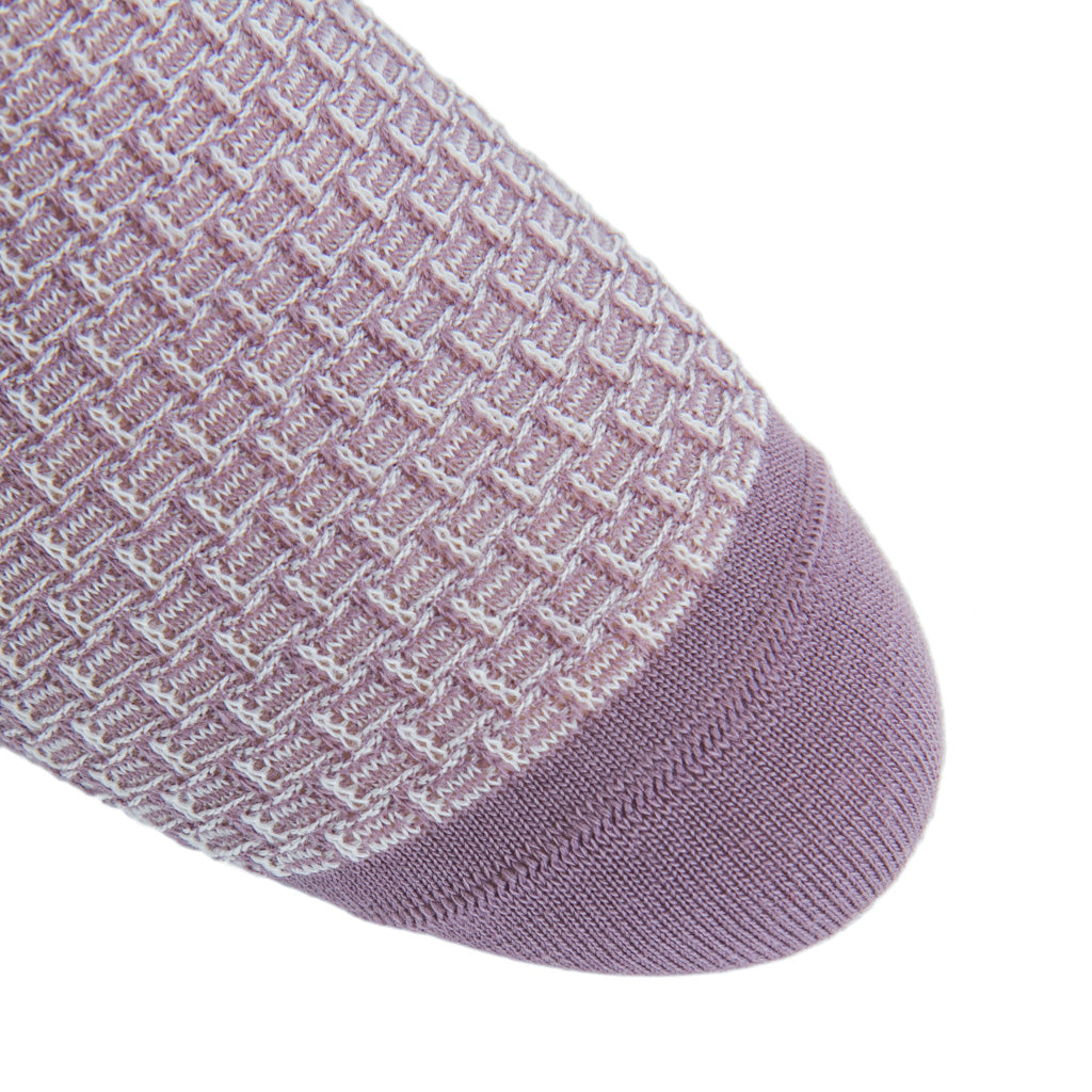 Basket-Weave-Wool-Sock