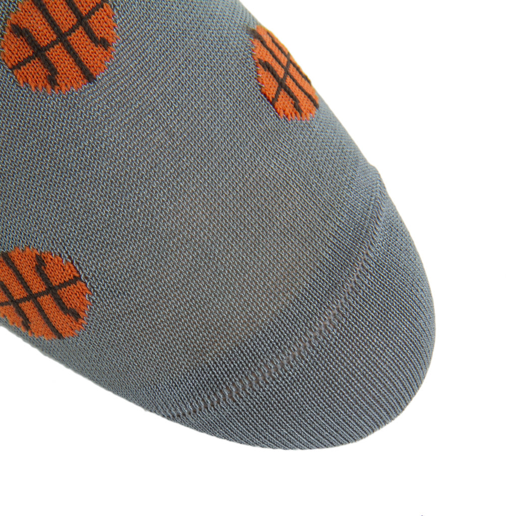 Grey-Orange-Basketball-Sock-USA