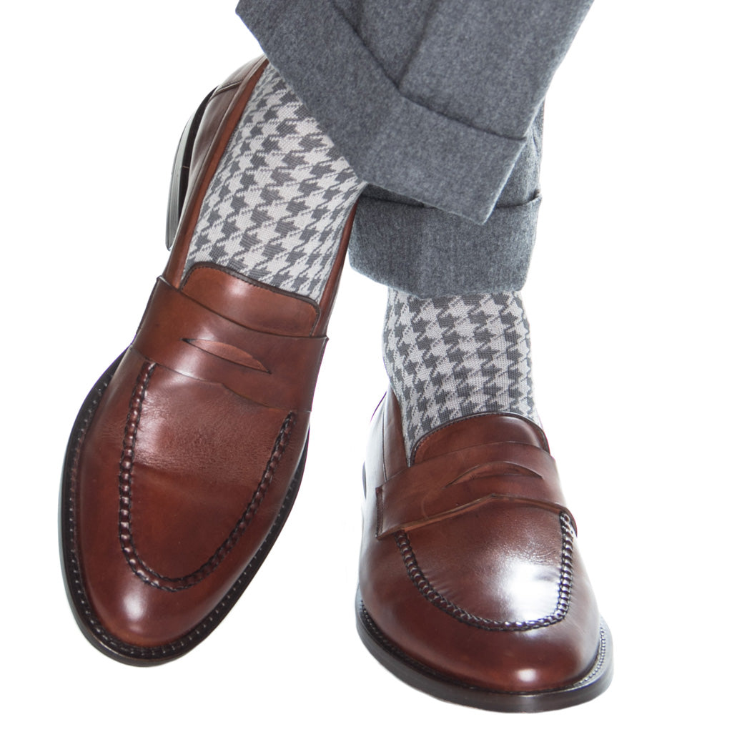 Dress Socks-Houndstooth