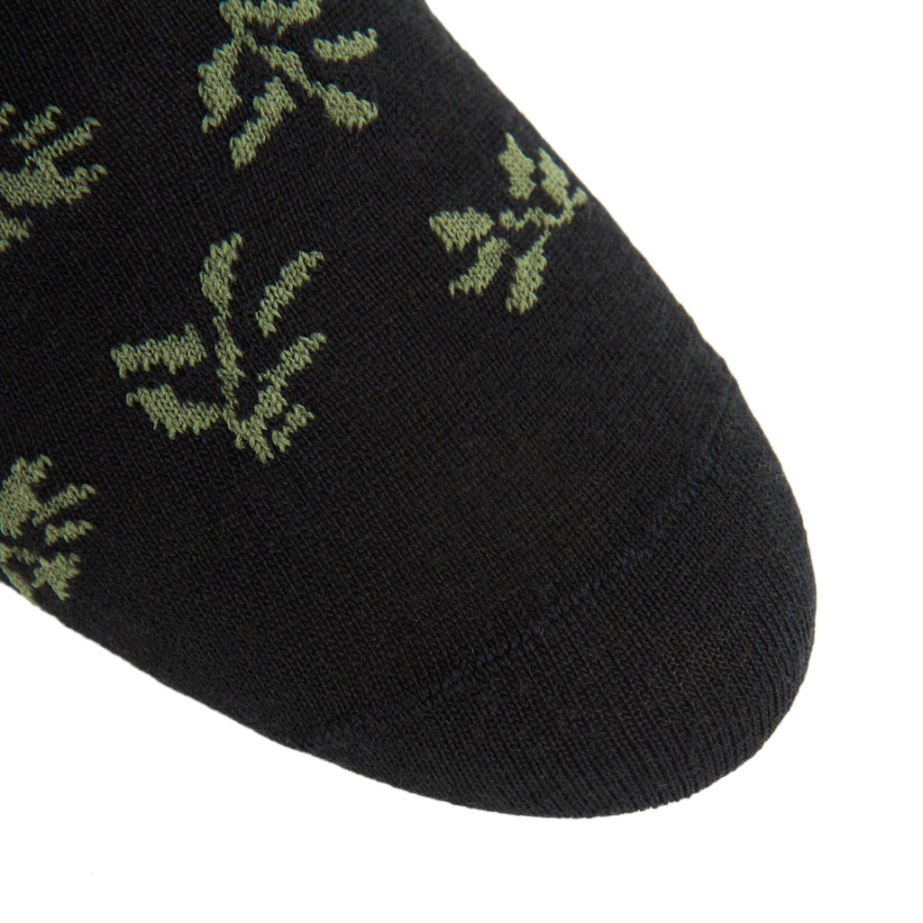 Black-Pine-Green-Made-In-America-Wool-Sock