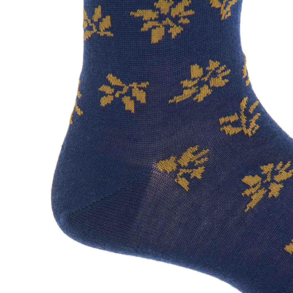 Mid-Calf-Navy-Gold-Wool-Sock