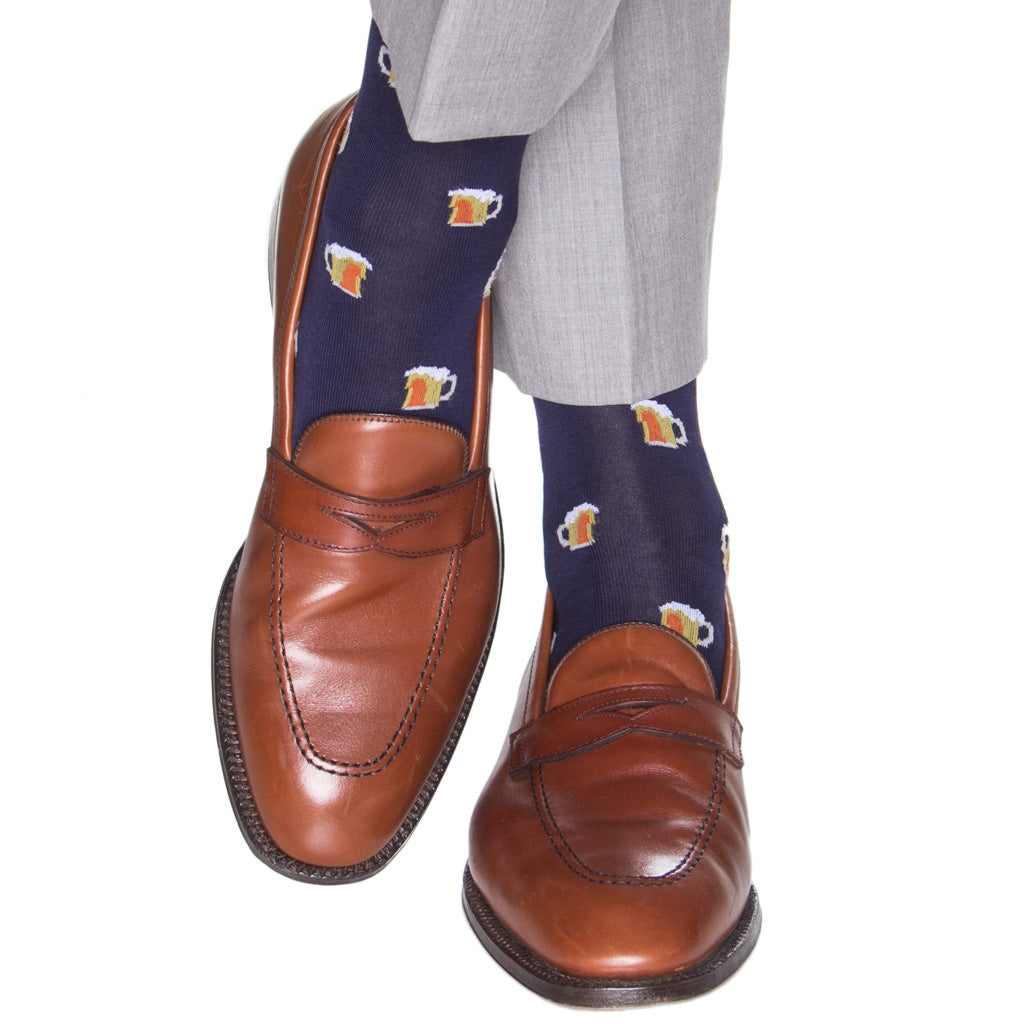 Navy-Sock-With-Beer-Mugs-American-Made