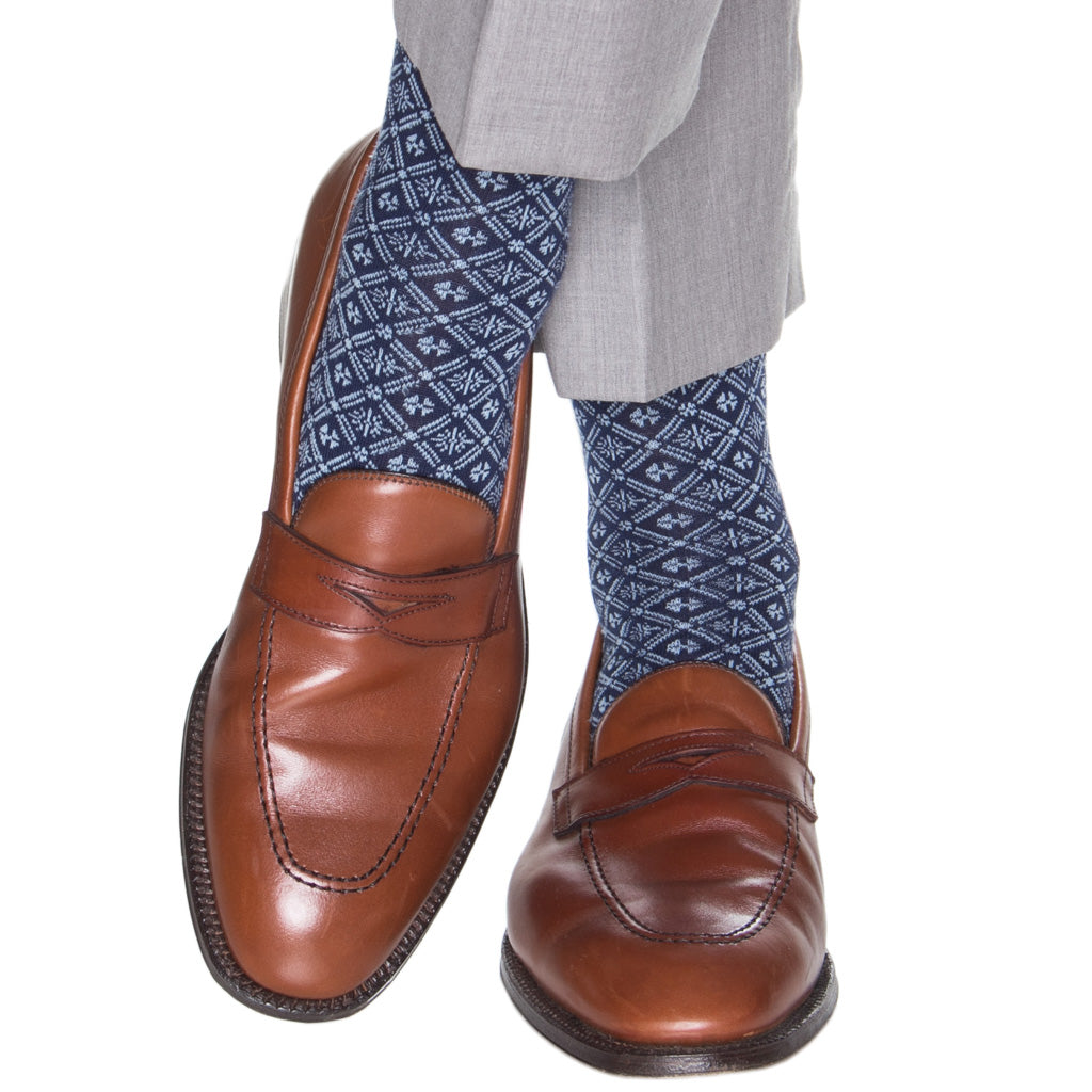 Dress-Blue-Sock-Grid
