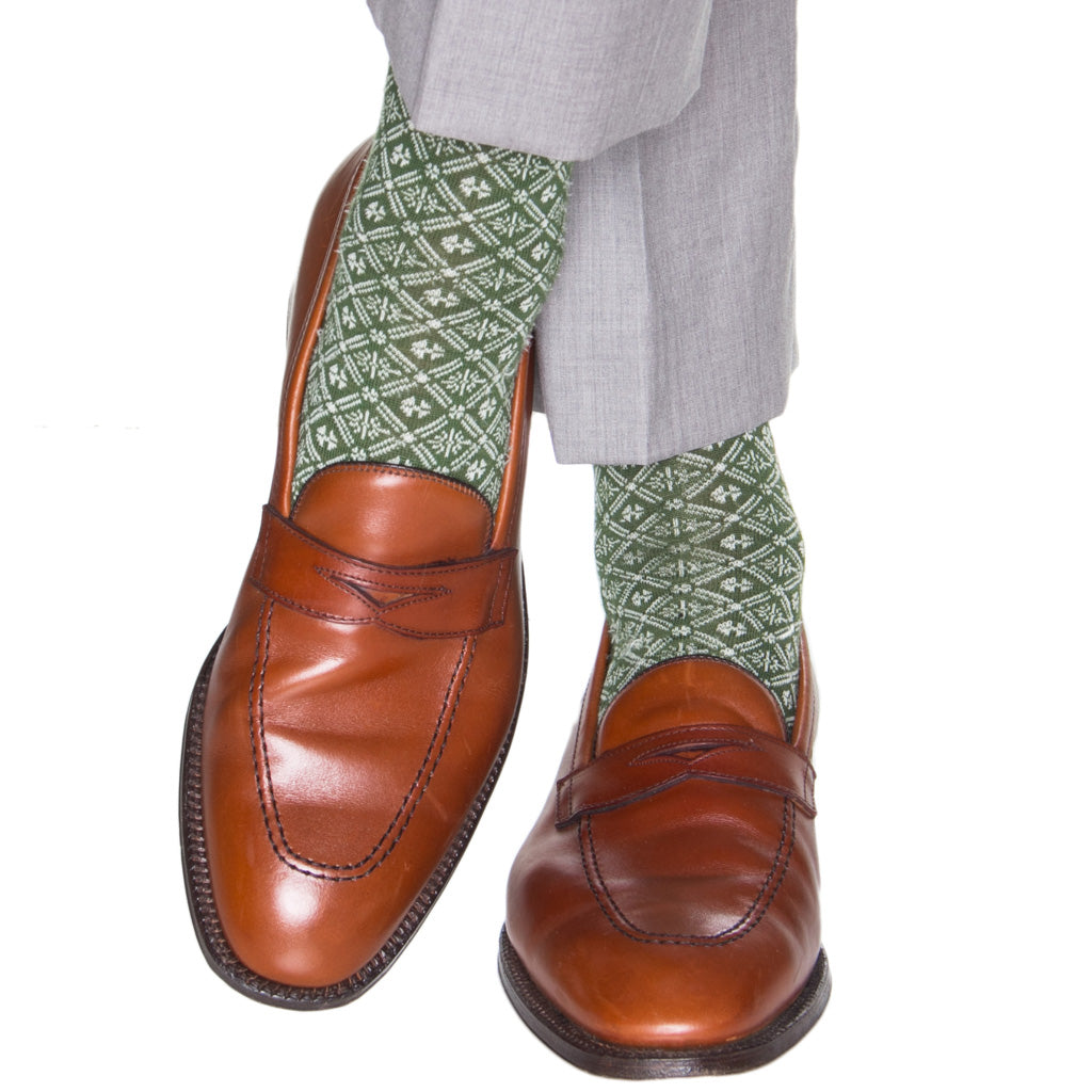 Patterned-Wool-Sock