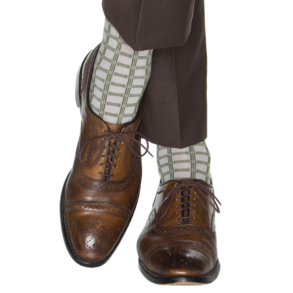 Ash-Pine-Green-Double-Pane-Wool-Sock