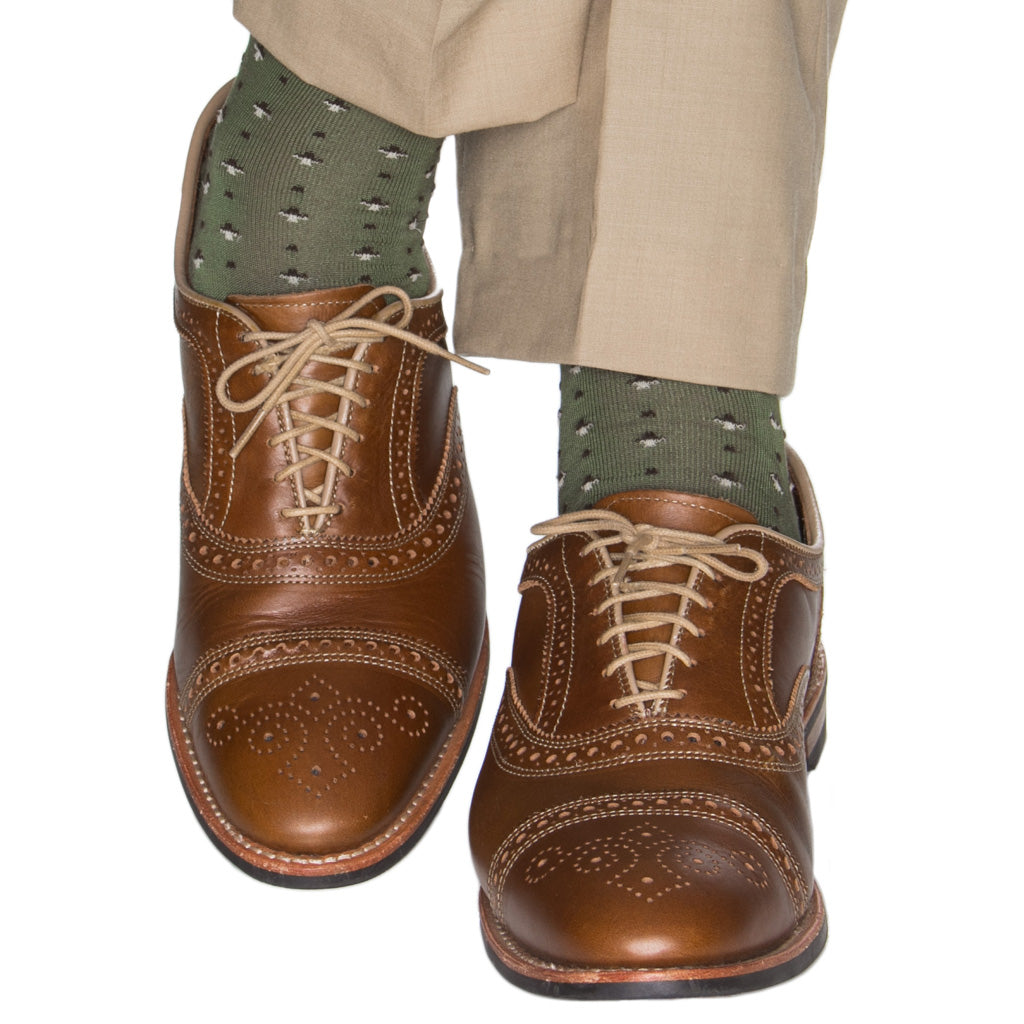 Green-Brown-Split-Neat-Sock