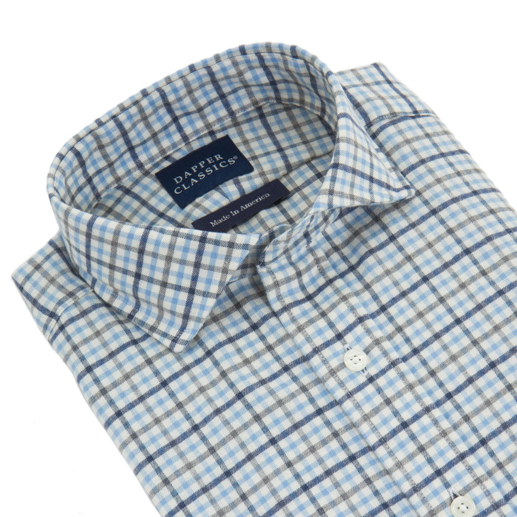 Blue-Navy-Plaid-Shirt-Cotton
