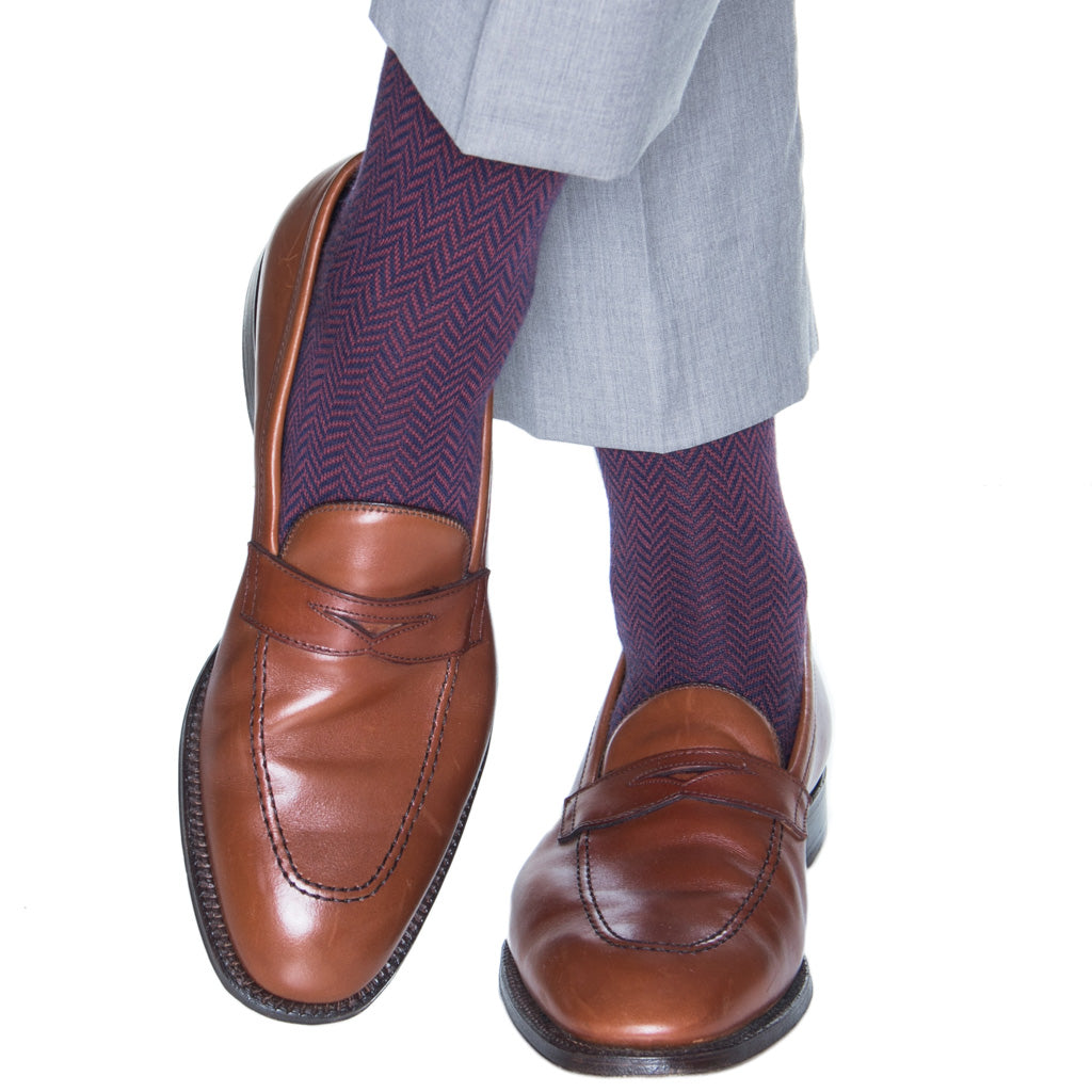 Herringbone-Wool-Sock-USA