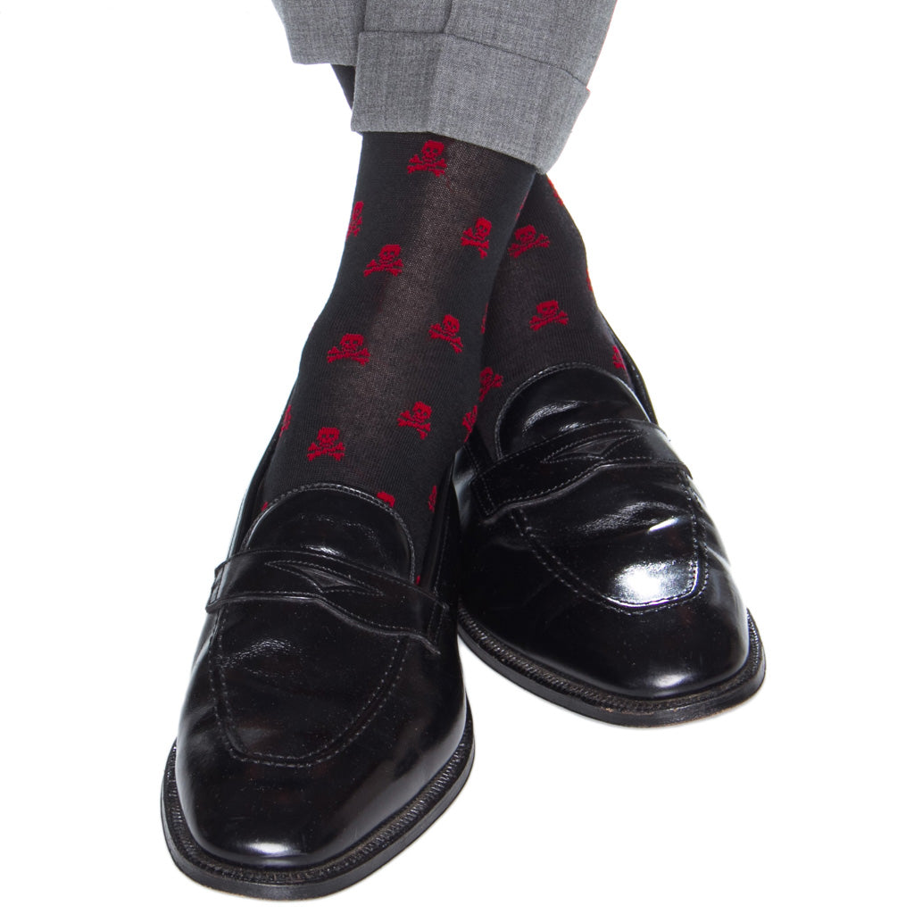 Patterned-Skull-Crossbones-Sock