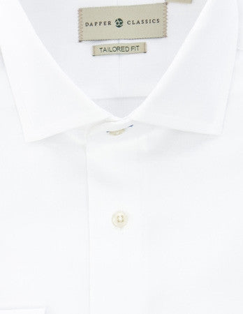 Mens White Dress Shirt - Tailored Fit - shirt - dapper-classics - 4
