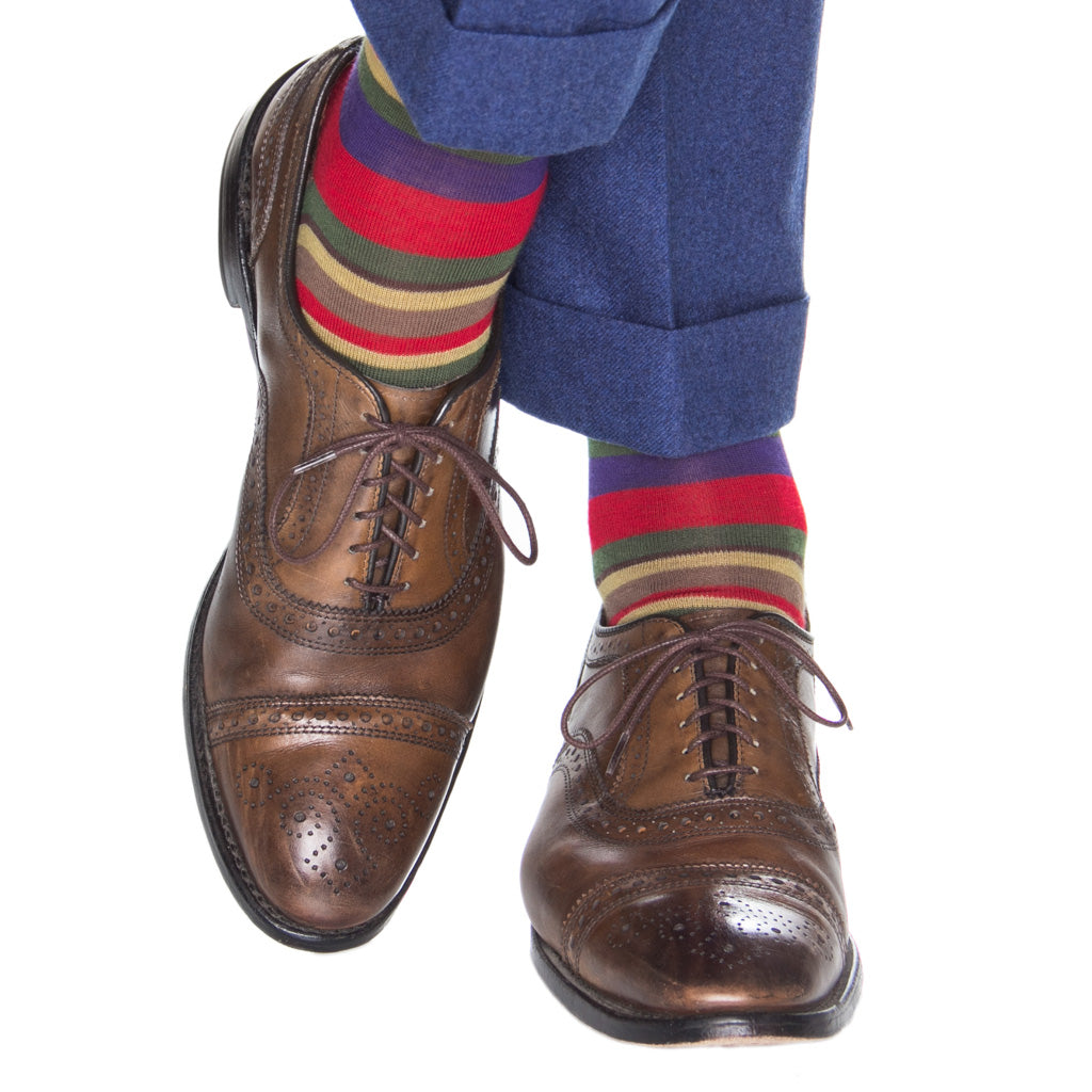 Wool-Stripe-Sock-Made-In-USA