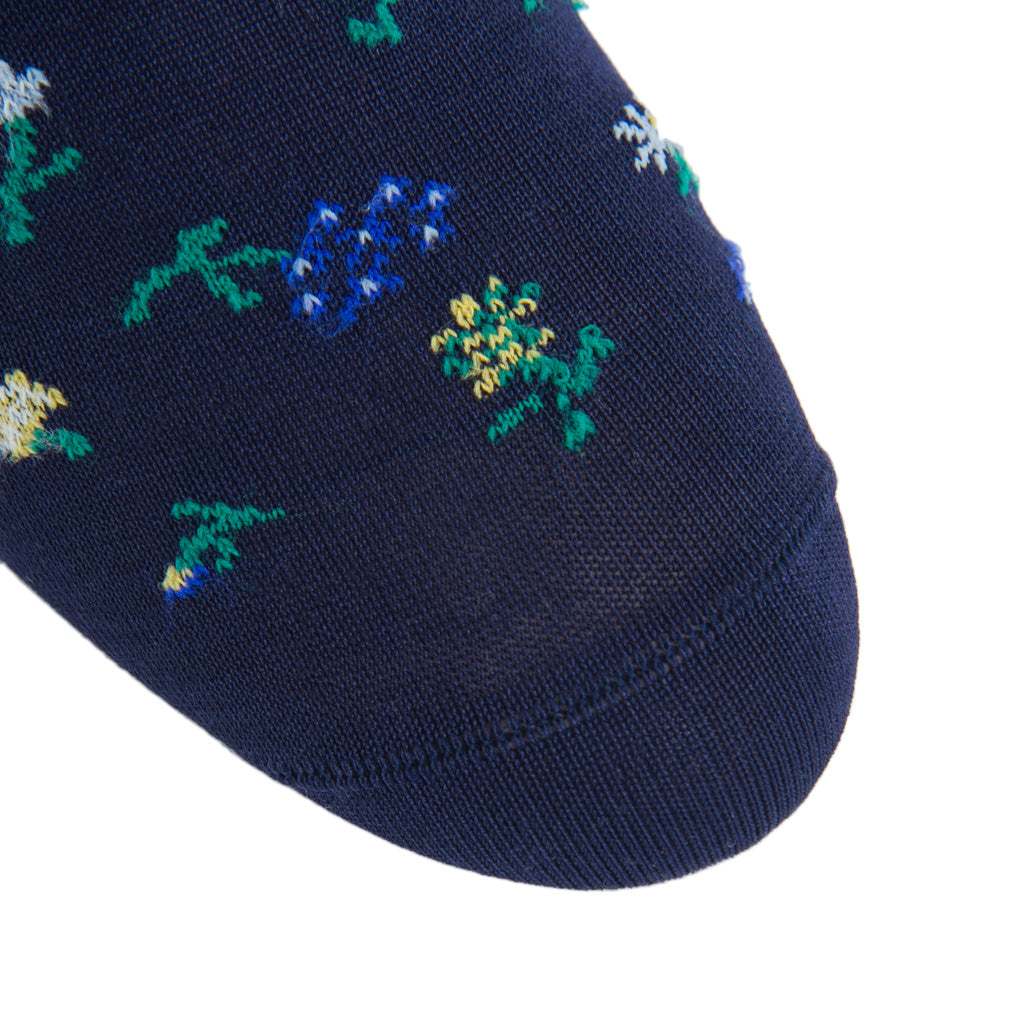 Patterned-Navy-Sock