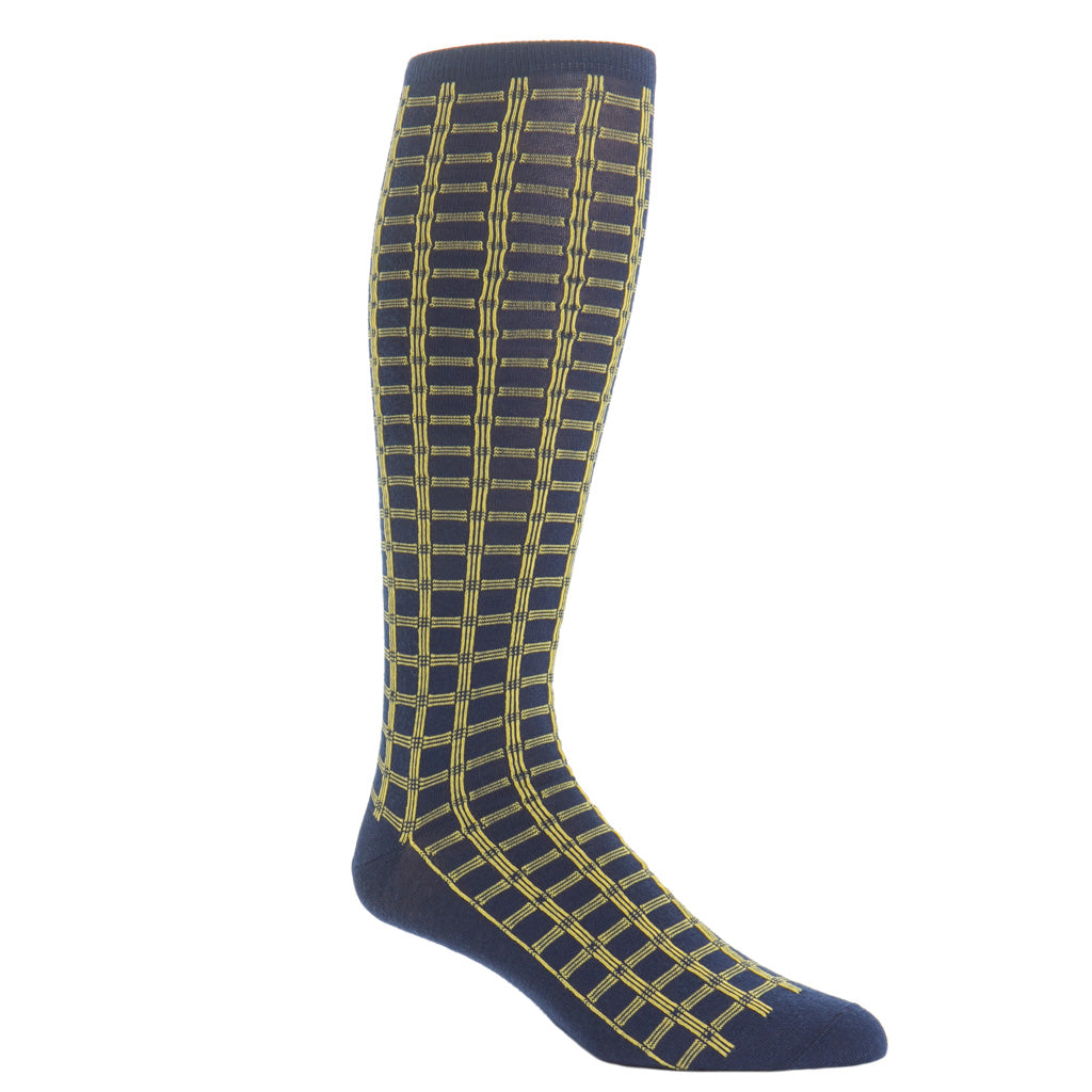 Over-The-Calf-Navy-Saffron-Wool-Sock