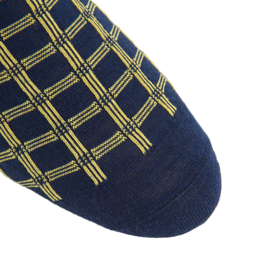 Double-Pane-Navy-Yellow-Wool-Sock