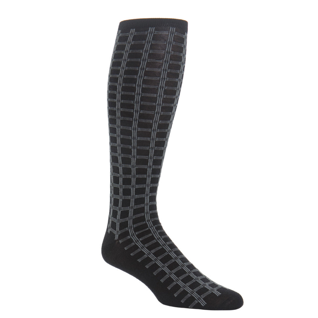 Made-In-USA-Black-Grey-Wool-Sock