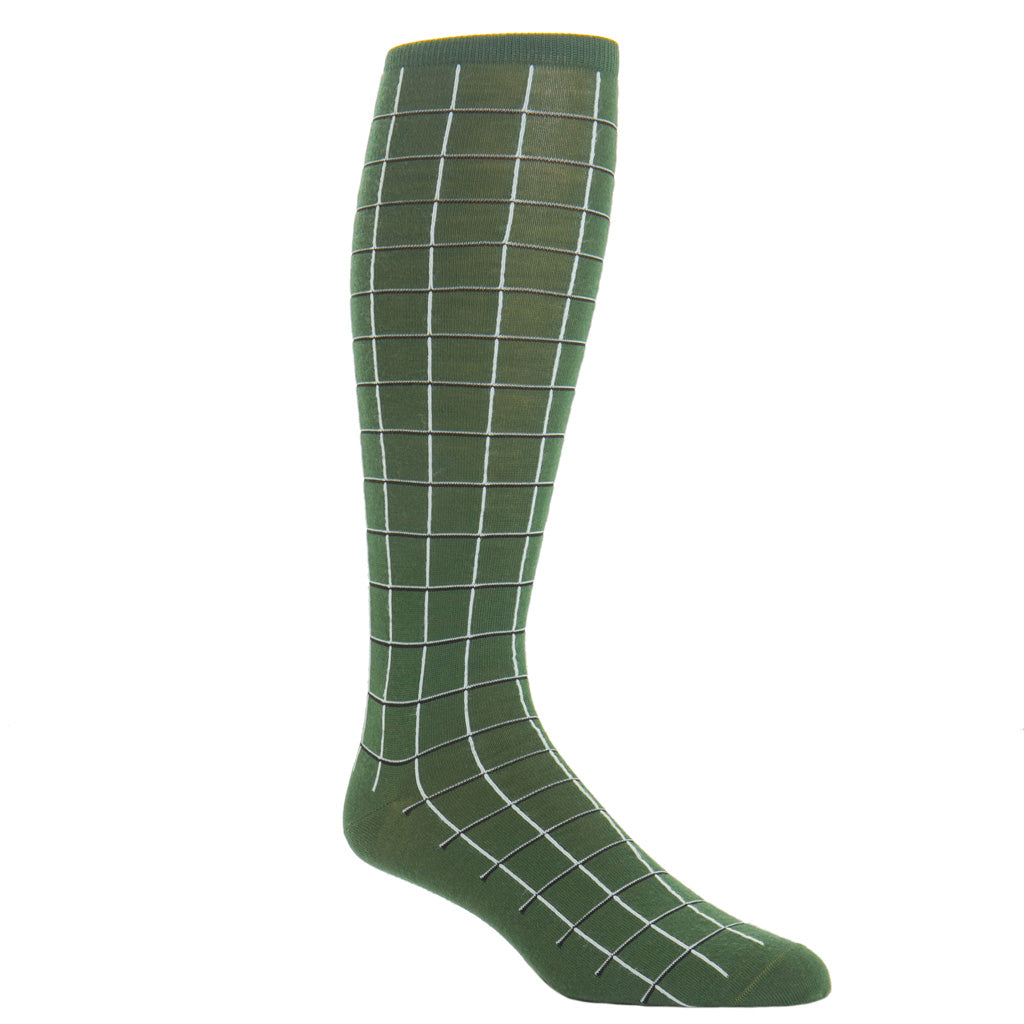 Over-The-Calf-Windowpane-Sock