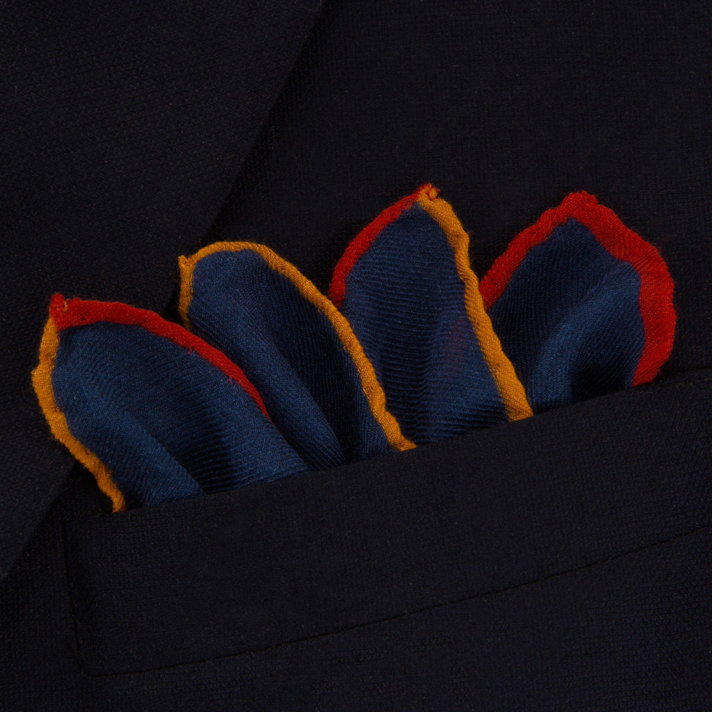 Blue-Red-Orange-Butterfly-Pocket-Square-USA