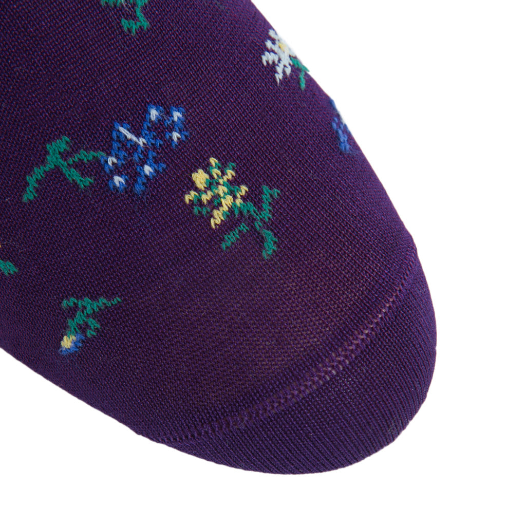 Patterned-Purple-Sock