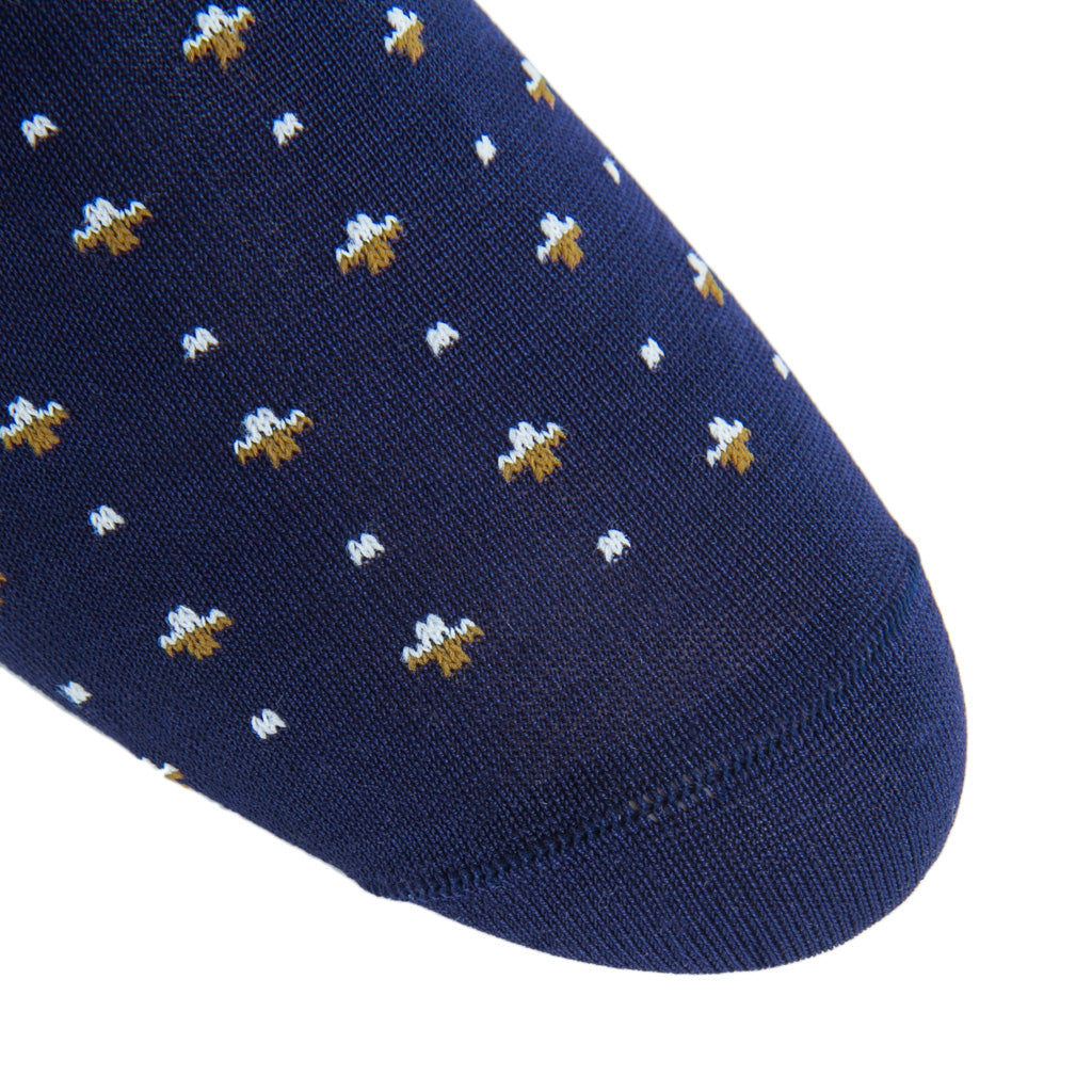 Classic-Navy-Gold-Cream-American-Made-Sock