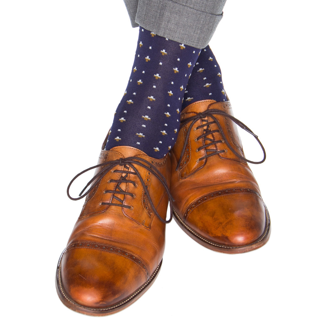 Patterned-Cotton-Sock-Made-In-USA