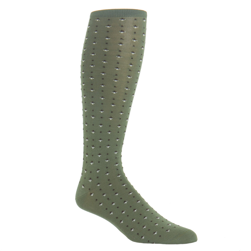 Over-The-Calf-Patterned-Cotton-Sock