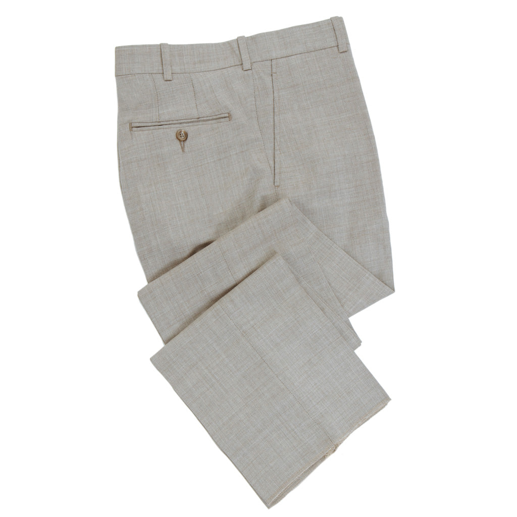 Slim Fit-Brown-Tan-Trousers-Hopsack